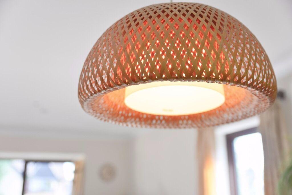 Ikea bja handmade bamboo ceiling pendant lamp in cambridge ikea bja handmade bamboo ceiling pendant lamp aloadofball Image collections