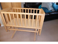 Wooden Gliding Crib by Mamas and Papas