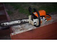 stihl 250 petrol 2 stroke chainsaw heavy duty