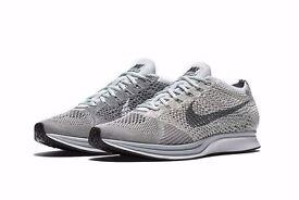 Nike Flyknit Racer Platinum Sizes 6-9.5 Men's and 5.5 Women's