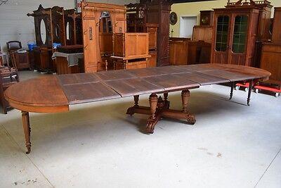 Sensationeller Gründerzeit  Auszieh Tisch, 425 cm lang,    Lieferung möglich!