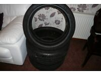 Dunlop 20 inch part worn tyres for sale 255/35/20