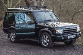 Land Rover Discovery 2 td5 7 Seater in stunning Metalllic Green with Beige Leather/ Suede Interior