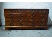 Mahogany chest of nine drawers (DELIVERY AVAILABLE)