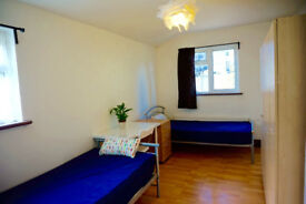 Twin or double bedroom close to Hackney, Homerton. Available now. 2 weeks deposit only.