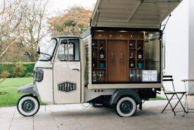 Prosecco Van - Conversions Coffee Piaggio Ape Bar Business for Sale Tuk Tuk