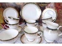Royal Grafton Majestic Green Trios Tea/Coffee Set for 6 (21 pieces)