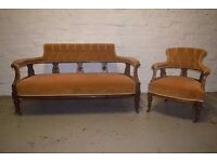 parlour sofa with armchair (DELIVERY AVAILABLE)