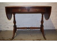 Regency Style Leather Topped Desk (DELIVERY AVAILABLE)