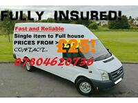 Man an Van From £25 Single item to Full House Fully Insured dump runs house clearances