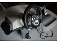 Xbox 360 Official Wireless Steering Wheel and Pedals
