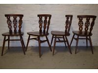 four ercol fleur de lys dining chairs (DELIVERY AVAILABLE)