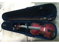 Gorgeous Purple Student Violin - Used but in great condition!