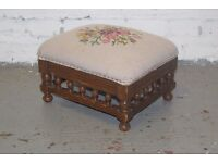 Tapestry footstool (DELIVERY AVAILABLE)