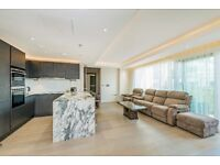 **SHORT LET** A spectacular two bedroom apartment in a private development, Park Street, SW6