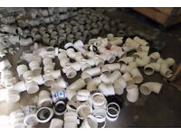 job lot Aprox 500 Pieces Ground /Building Drain Fitting 2,3,4 way Grey Clearance All Brand New