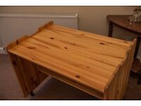 A lovely pine desk fitted with underside shelf