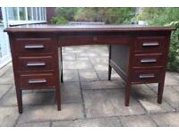 Vintage Wooden Desk - Ideal for Home Working