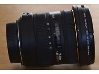 Sigma 10-20 mm f3.5 DC HSM lens plus filters. Canon EOS fit.