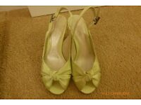 Light green peep toe sandals from Phase Eight
