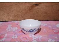 Arcopal Blue Flowers Small Bowl retro vintage