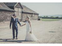 Wedding dress UK size 12 Cymbeline ivory lace v-neck