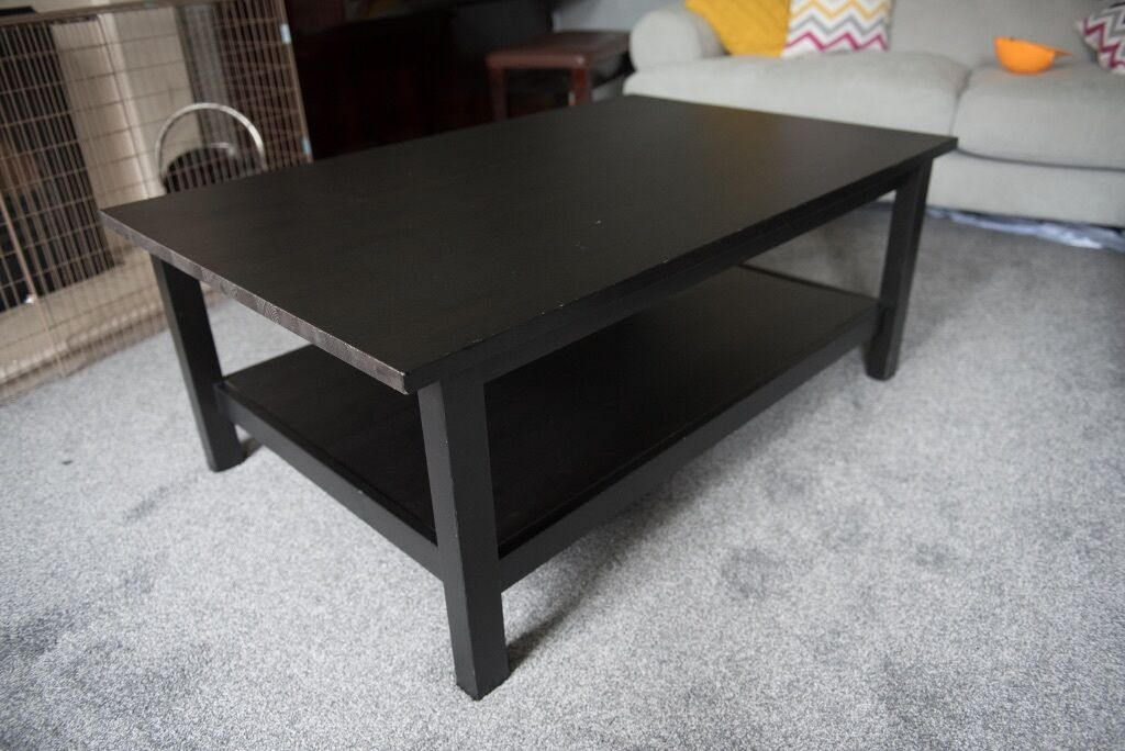 ikea hemnes beautiful black brown coffee table | in craigavon