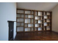 BESPOKE pigeon holes bookcases industrial style furniture upcycle reclaimed wood shelving gplanera