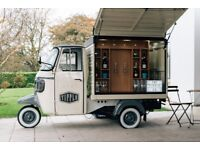 Prosecco & Beer Van Bar Conversion - BRAND NEW - Business Opportunity - Piaggio Ape Classic