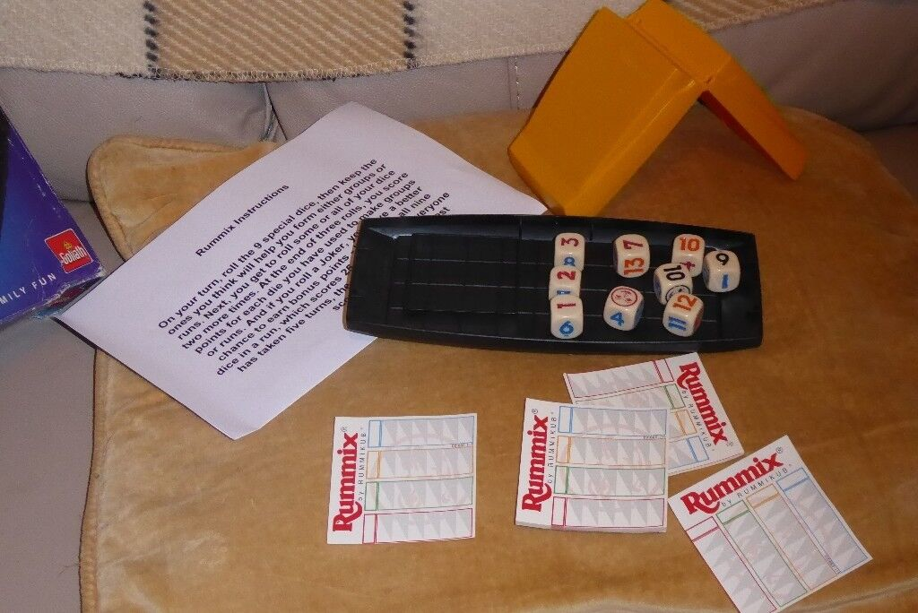 Rummix Game Rummikub On Dice With Instructions Play Anywhere