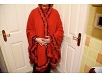 Selection of hand crafted/tailored cape/shawls in various colours and materials