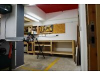 Workbench to rent in a shared workshop in the heart of Peckham