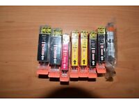 Canon compatible ink cartridges, C525/526. Suit Pixma MG5350 printer. All new and unused