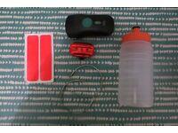 Bike starter kit - Cable lock, D-lock, bottle, trouser clips, lights, stickers