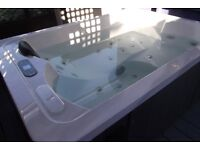 as new hot tub with built in radio