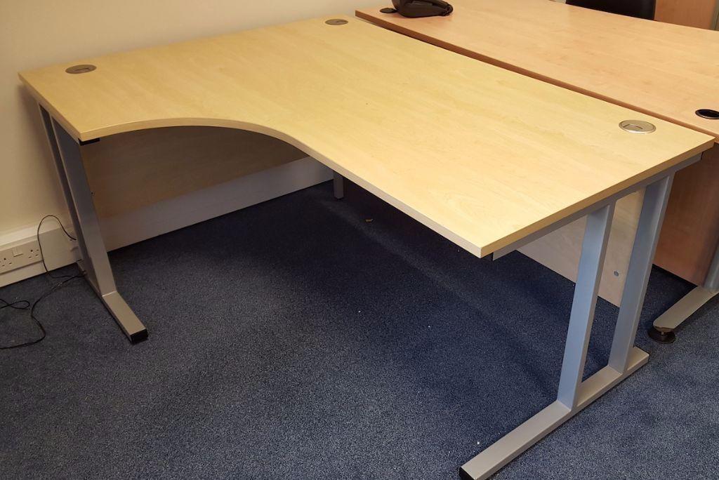 curved office desks. Maple Curved Office Desk 1600 X 1200 (5 Months Old) Desks E