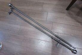"""chrome metal curtain rail rod total lengh 96"""""""