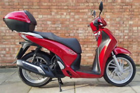 Honda SH 125 (64 REG) Red, One owner from new, ABS, Low mileage Miles!
