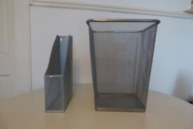 Wire Paper Bin Waste Paper Basket and Document Holder