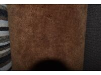 100% Polypropylene Carpet Saxony Chocolate Brown 3.75m x 4m (163)
