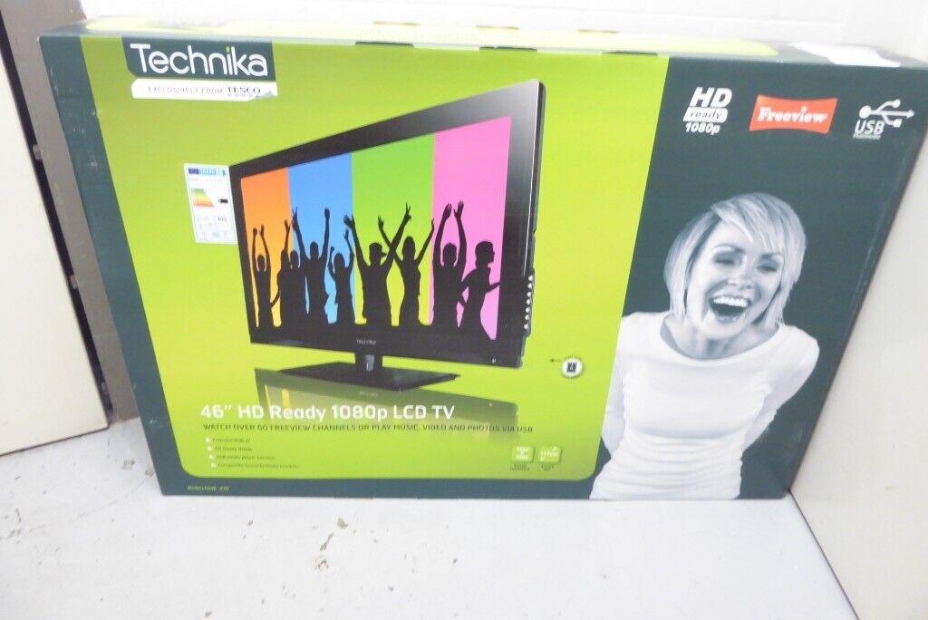 NEW BOXED Technika 46 Inch Full HD LCD Freeview TV, Model  TM46/57G-GB-FTCU-UK 0301923 | in Wirral, Merseyside | Gumtree
