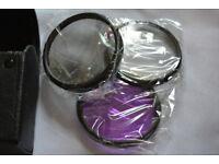 set 3 lens filters + tulip hood