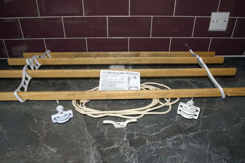"""Overhead clothes drying rack - 36"""" long"""