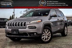 2016 Jeep Cherokee Limited|4x4|Only 4472 Km|Navi|Backup Cam|Blue