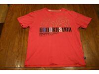 Mens BrookHaven 1968 T-Shirt Medium (Pink/Black/Blue)