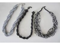 3 Multi layered Necklaces.