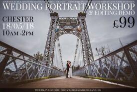 £99 WEDDING PORTRAIT WORKSHOP - PORTFOLIO SHOOT + EDITING DEMO second 2nd photography assistant