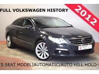 VOLKSWAGEN PASSAT CC 2.0 TDI GT BLUEMOTION DSG AUTO 4 Door Saloon FULL (grey) 2012