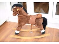 Kid Children Brown Rocking Horse Traditional Toy