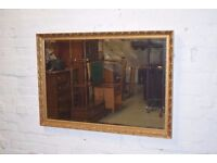 Rectangular Gilt Framed Mirror (DELIVERY AVAILABLE)